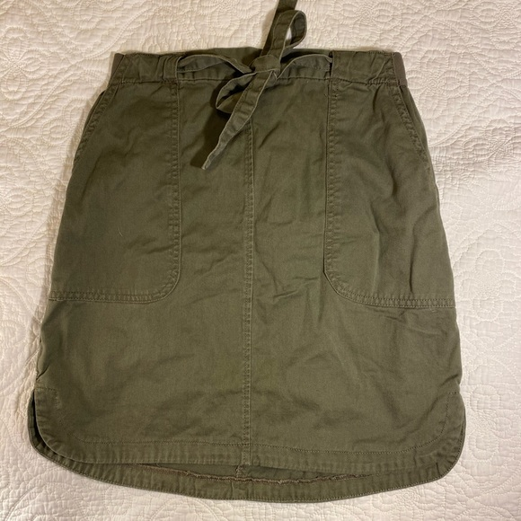 Joe Fresh Bow Skirt Khaki Green
